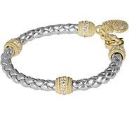 Judith Ripka 14K Clad Verona Braided Heart Charm Bracelet - J377522