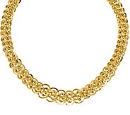 Italian Gold Polished & Textured Double Link  Necklace 14K, 20 - J377622