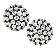 Judith Ripka Sterling 3.80cttw Diamonique Pave Button Earrings - J288923