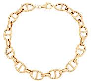 14K Gold 6-3/4 Polished Marine Link Bracelet, 4.7g - J289323