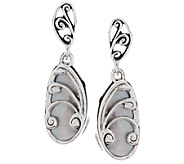 Carolyn Pollack Sterling Violet Mother-of-Pearl Butterfly Earrings - J289923