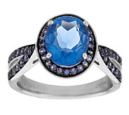 3.40 ct tw Color Change Fluorite & Iolite Sterling Ring - J290223