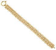 14K Gold 6-3/4 Domed Double Byzantine Bracelet, 10.2g - J295623