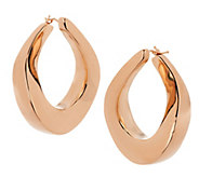 Oro Nuovo 1-1/4 Polished Graduated Twist Hoop Earrings, 14K - J296323