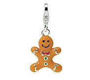 Amore La Vita Sterling Dimensional GingerbreadCookie Charm - J300023