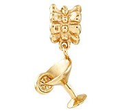 Prerogatives Gold-Plated Sterling Margarita Dangle Bead - J302623