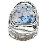 Or Paz Organic Design Roman Glass Sterling Ring - J318123