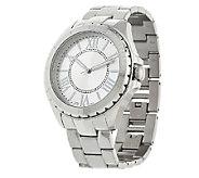 Stainless Steel Round Case Bracelet Watch - J322323