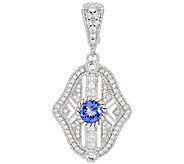 Judith Ripka Sterling Gemstone & Diamonique Enhancer - J322523