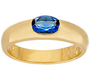 The Elizabeth Taylor Simulated Sapphire Stack Gem Ring - J323523