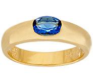 The Elizabeth Taylor Simulated Sapphire Stack Gem Ring - J323523