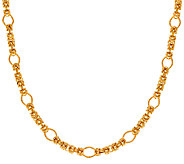 Veronese 18K Clad 18 Fancy Byzantine Necklace - J323723