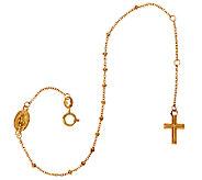 14K Yellow Gold Rosary Design Bracelet, 1.2g - J324623