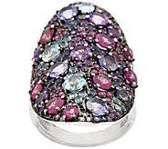 As Is Graziela Gems Multi-Gemstone Sterling Ring, 5.00 ct tw - J325223