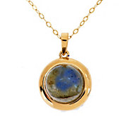 As Is EternaGold 18 Gemstone Pendant with Chain, 14K Gold - J326423