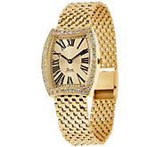 As Is Vicence 9/10 ct tw Diamond Tortue Case Watch, 14K - J327323