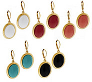 As Is Joan Rivers Set of 5 Drops of Color Lever Back Earrings - J327823