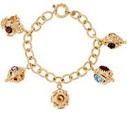 Arte d Oro 20.00 ct tw Gemstone 6-3/4 18K Gold Bracelet 20.2g - J328423