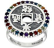 Luv Tia Sterling & Multi-Gemstone Ring - J330223