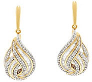 Baguette & Round Diamond 1/2cttw Earring Sterling by Affinity - J331423