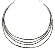 Sterling Silver Multi-Layer Collar Necklace by Or Paz, 41.4g - J331523