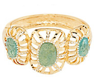 As Is Kara Ross Goldtone Simulated Drusy Hinged Bangle - J332723