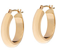 14K Gold 3/4 Polished Hoop Earrings - J333623
