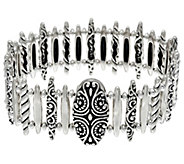 Carolyn Pollack Empress Sterling Silver Magnetic Link Bracelet 50.0g - J334023