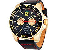 Ferrari Mens Black Leather Strap Multi-Function XX Ker Watch - J334323