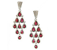 Judith Ripka Sterling Rhodolite Dangle Earrings - J338123
