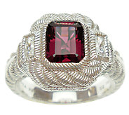 Judith Ripka Sterling Rhodolite and DiamoniqueRing - J339223