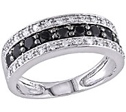 Black & White Diamond Band Ring, 14K White Goldby Affinity - J340823