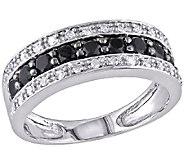 Black & White Diamond Band Ring, 14K White Goldby Affinity - J340823