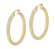 EternaGold 1-1/2 Polished Round Hoop Earrings,14K - J344723