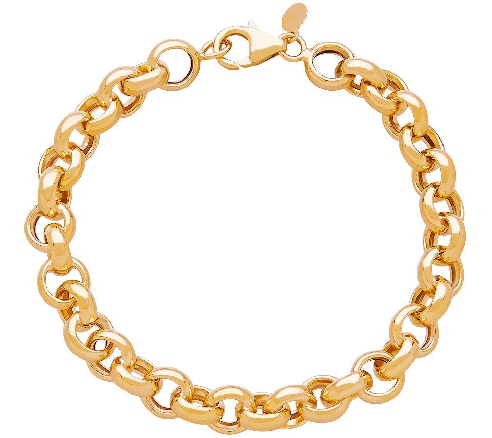eternagold 7 rolo link chain bracelet 14k gold page 1