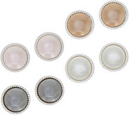 Joan Rivers Set of 4 Clip or Pierced Faux Pearl Button Earrings - J349123
