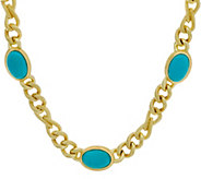 Judith Ripka Verona 18 Gemstone Necklace 14K Clad 62.0g - J349223