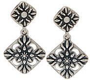 Sterling Silver Diamond Shape Dangle Earrings by American West - J350323