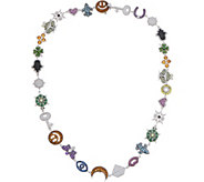 Judith Ripka Sterling Silver Lucky Charm Necklace, 6.30cttw - J352523