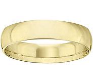 Mens 14K Yellow Gold 5mm Half Round Wedding Band - J375423