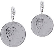 Vicenza Silver Sterling Set of 2 50-Lire Coin Charms - J375623