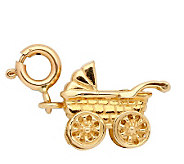 14K Yellow Gold 3-D Baby Carriage - J108024