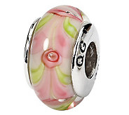 Prerogatives Sterling Pink with Green Glass Bead - J109224