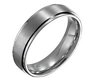 Forza Mens 6mm Steel w/ Ridged Edge SatinPolished Ring - J109524