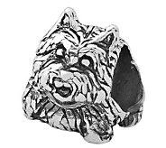 Prerogatives Sterling Scottish TerrierDog Bead - J110024