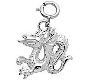Sterling Dragon Charm - J110124