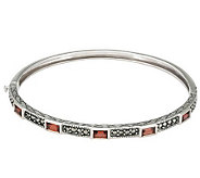 Suspicion Sterling Marcasite & Gemstone HingedBangle - J112424