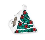 Prerogatives Sterling Crystal Christmas Tree Bead - J113224
