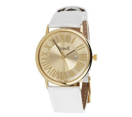 vicence bold leather 18k gold
