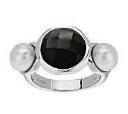 Honora Cultured Pearl and Mother-of-Pearl Doublet Sterling Ring - J279524